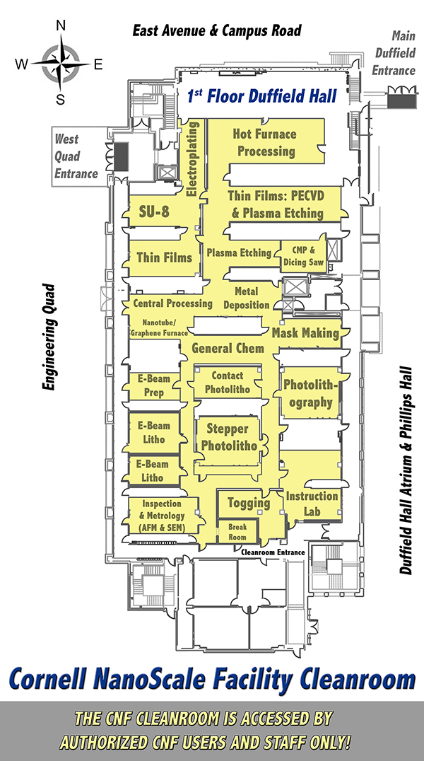 CNF Cleanroom Floor Plan